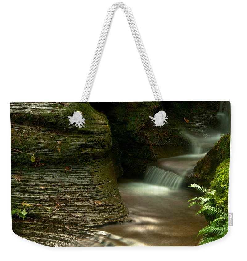Weekender Tote Bag featuring the photograph The Turn by Scott Hafer