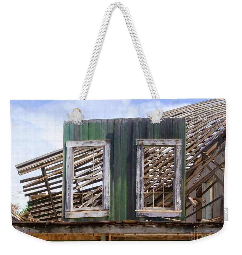 Windows Weekender Tote Bag featuring the photograph The Two Left Standing by Mary Deal