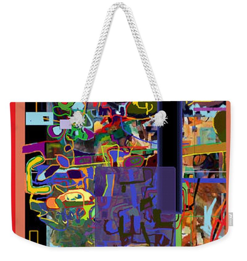 Torah Weekender Tote Bag featuring the digital art The Tzaddik Lives On Emunah 10 by David Baruch Wolk