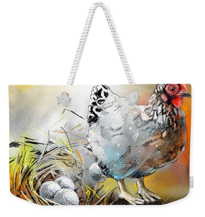 Sports Weekender Tote Bag featuring the painting The Ultimate Golfer Gift by Miki De Goodaboom