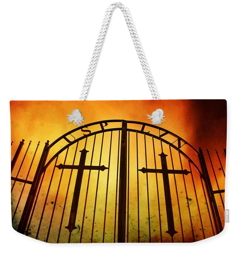 Graves Weekender Tote Bag featuring the photograph The Unforgiven by Chris Berry