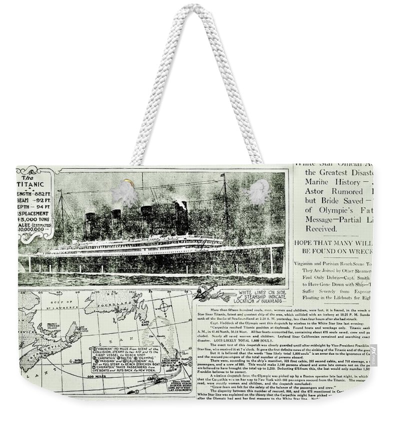 Newspaper Weekender Tote Bag featuring the photograph The Unimaginable by Benjamin Yeager