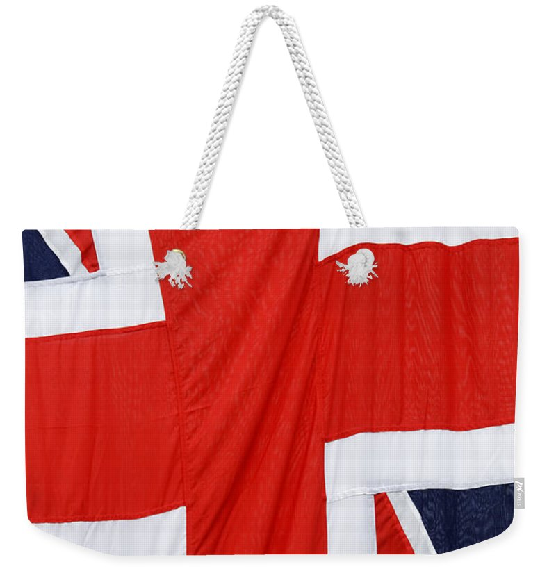 Flag Weekender Tote Bag featuring the photograph The Union Jack by Dutourdumonde Photography