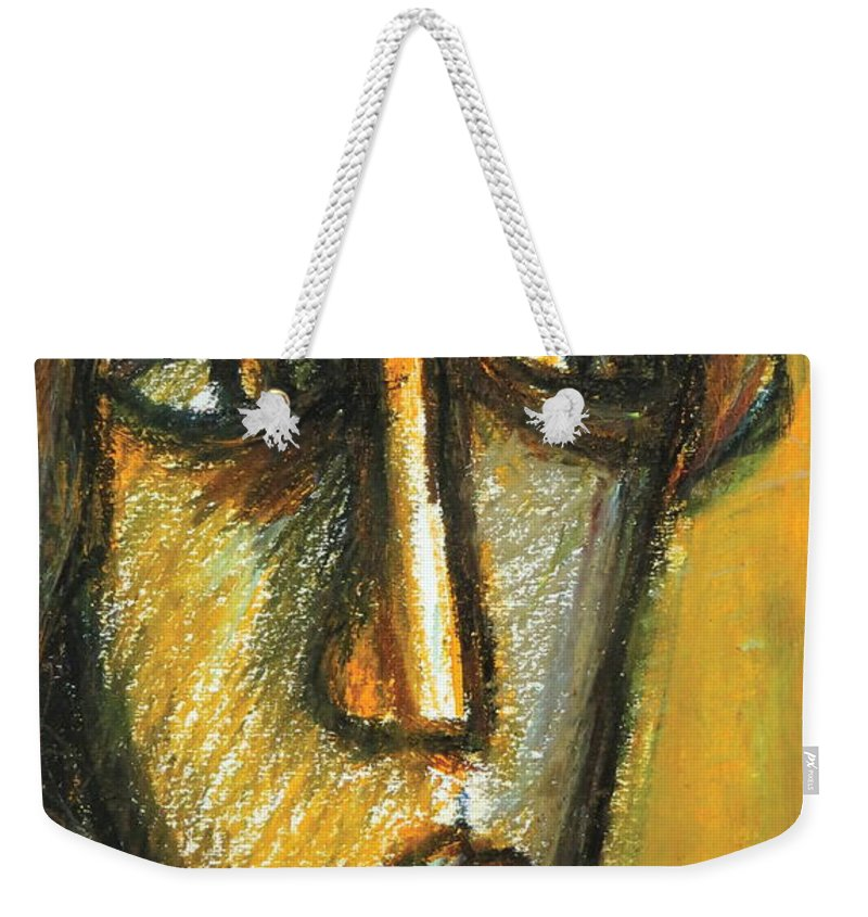 Portrait Weekender Tote Bag featuring the pastel The Unseen - 2 by Rabi Khan