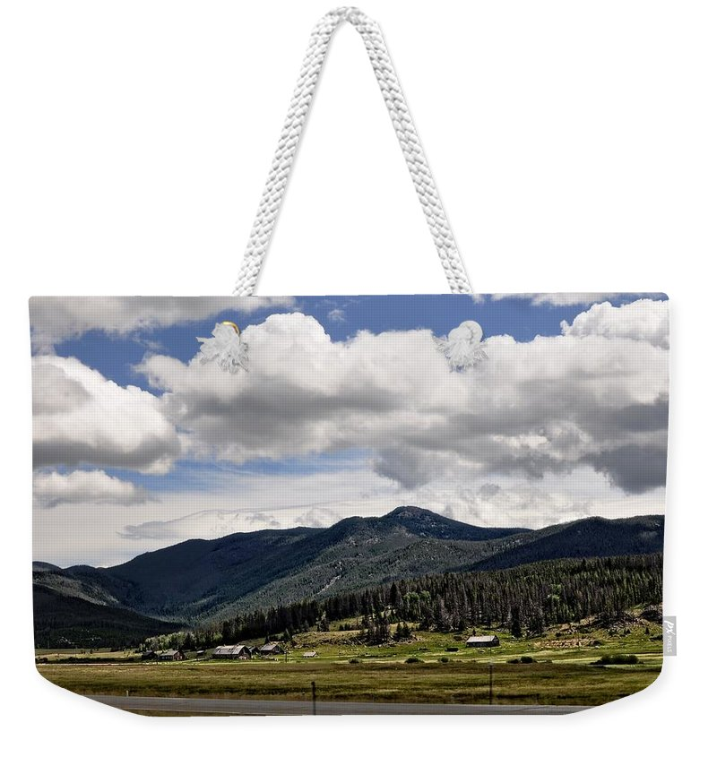 Barn Weekender Tote Bag featuring the photograph The Valley by Image Takers Photography LLC