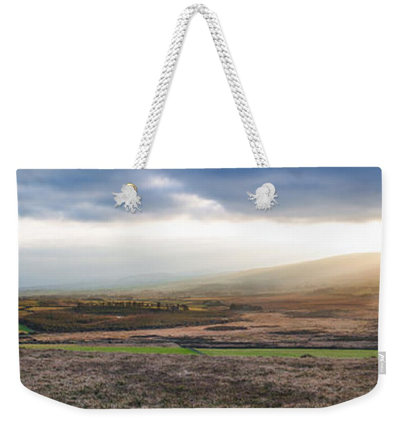 Cloudscape Weekender Tote Bag featuring the photograph The Valleys In Wicklow Ireland by Semmick Photo