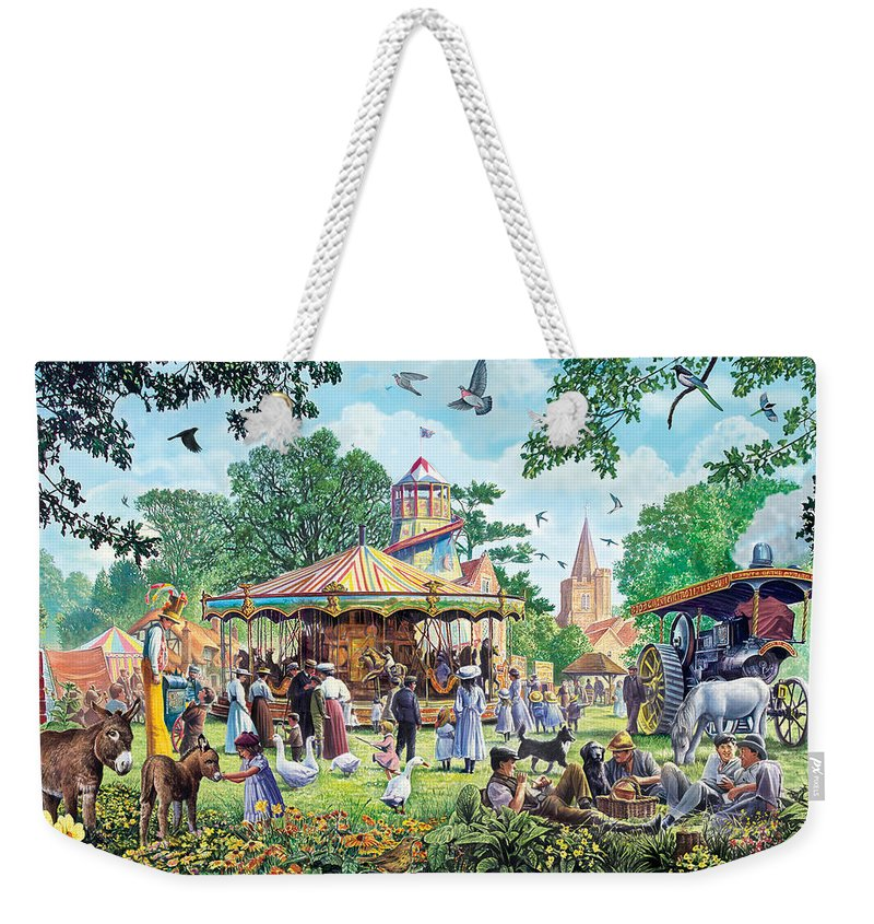 Animal Weekender Tote Bag featuring the photograph The Village Fayre by Steve Crisp