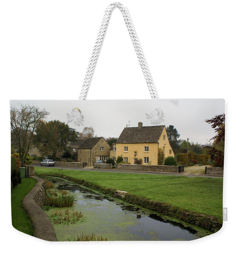 Village Weekender Tote Bag featuring the photograph The Village Green by Ron Harpham