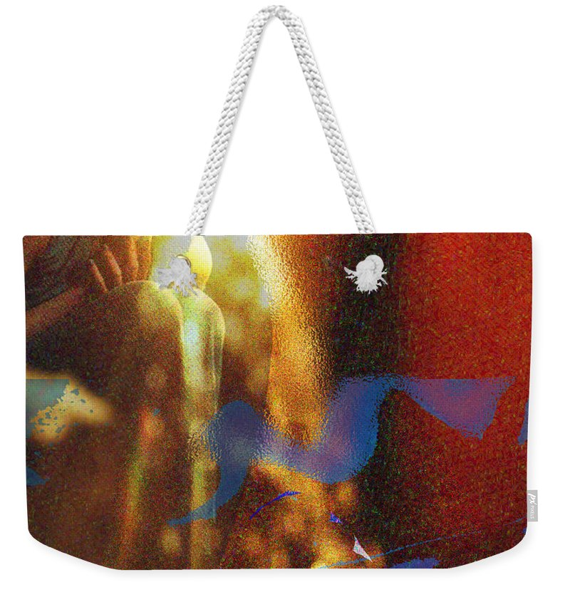 Vision Weekender Tote Bag featuring the digital art The Vision by Seth Weaver
