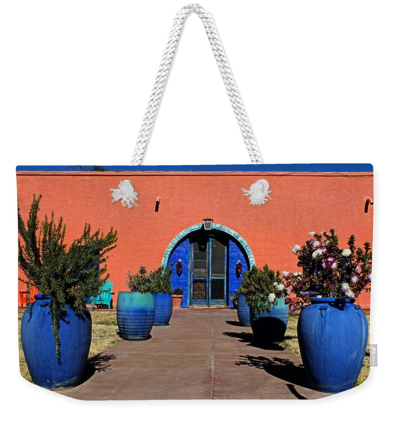 Lucinda Walter Weekender Tote Bag featuring the photograph The Walkway by Lucinda Walter