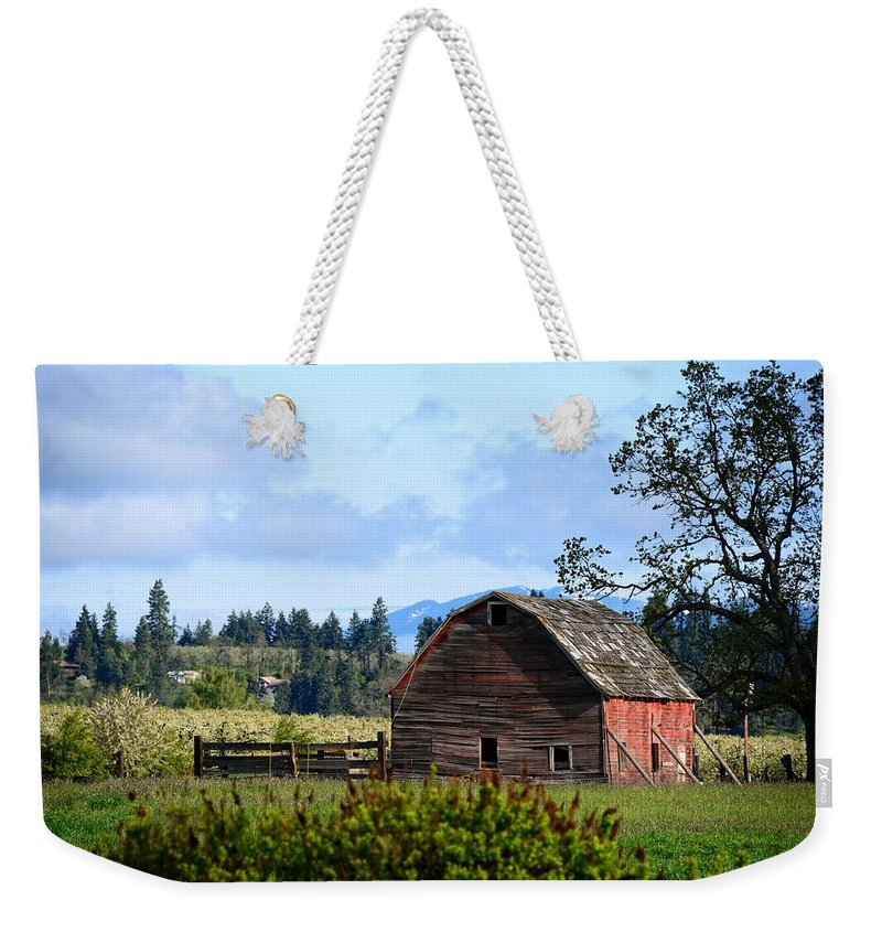 Barn Weekender Tote Bag featuring the photograph The Warmth Of The Barn by Image Takers Photography LLC- Laura Morgan