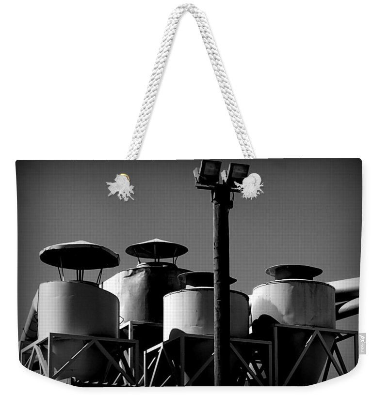 Hopper Weekender Tote Bag featuring the photograph The Watchers by Guy Pettingell