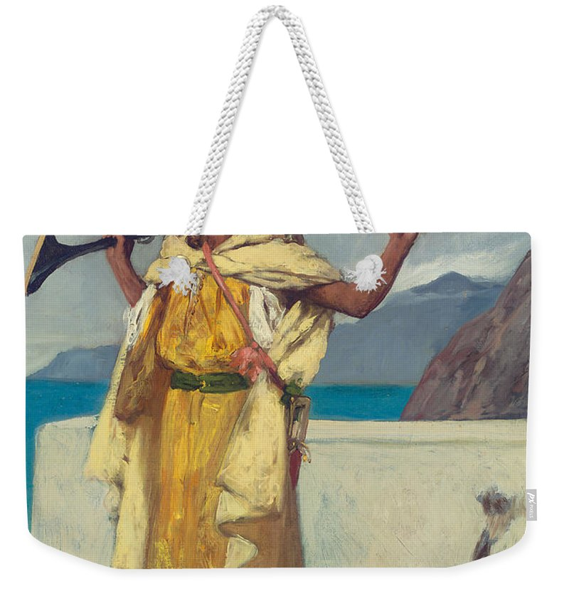 The Watchful Guard Weekender Tote Bag featuring the painting The Watchful Guard by Jean Joseph Benjamin Constant