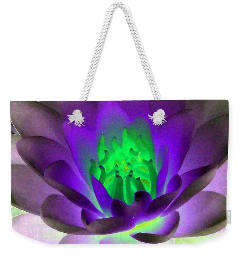 Water Lilies Weekender Tote Bag featuring the photograph The Water Lilies Collection - Photopower 1115 by Pamela Critchlow