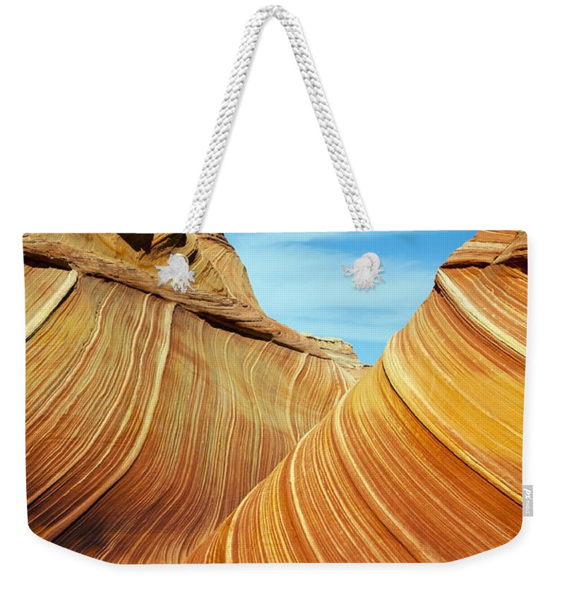 The Wave Weekender Tote Bag featuring the photograph The Wave by Bob Phillips