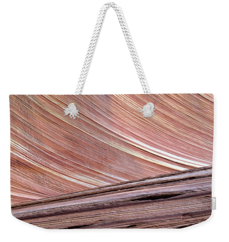 Landscape Weekender Tote Bag featuring the photograph 'the Wave' North Coyote Buttes 02 by Jeff Brunton