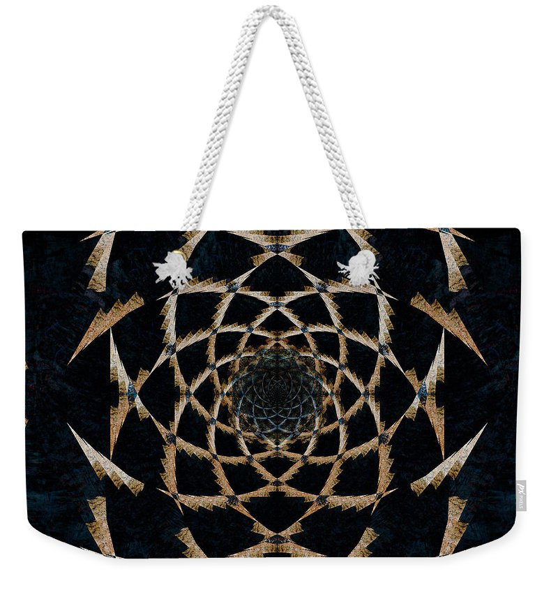 Abstract Weekender Tote Bag featuring the digital art The Web by Colette Panaioti