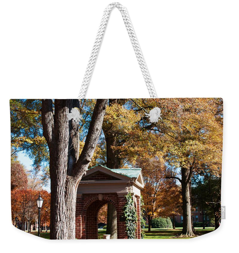 Art Weekender Tote Bag featuring the photograph The Well - Davidson College by Paulette B Wright