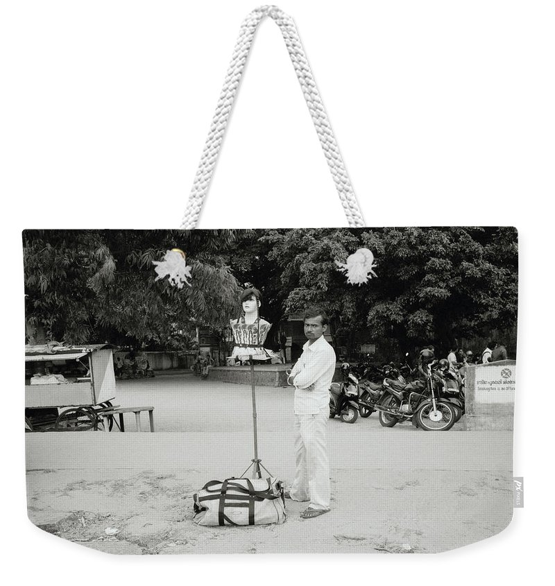 India Weekender Tote Bag featuring the photograph The Wig Seller by Shaun Higson