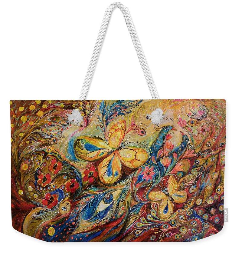 Original Weekender Tote Bag featuring the painting The Wind by Elena Kotliarker