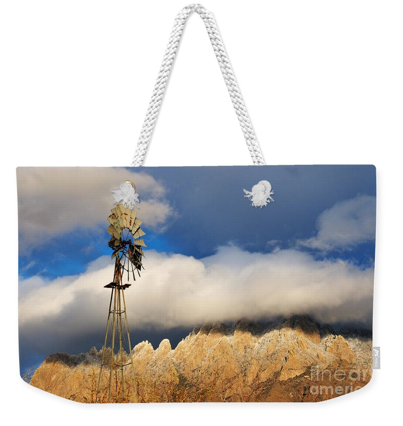 Windmill Weekender Tote Bag featuring the photograph The Windmill by Vivian Christopher