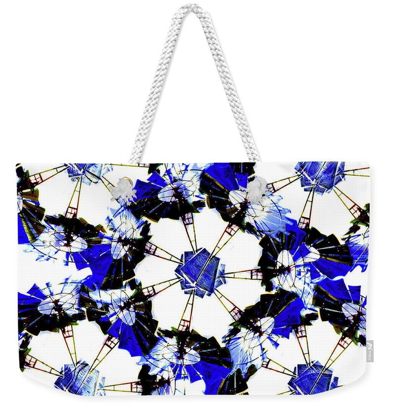 Abstract Weekender Tote Bag featuring the digital art The Windmills Of My Mind Bouquet by Andee Design
