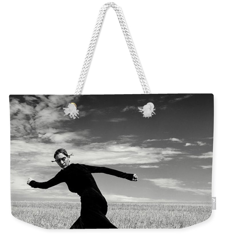 Looking Over Shoulder Weekender Tote Bag featuring the photograph The Witch by Funky-data
