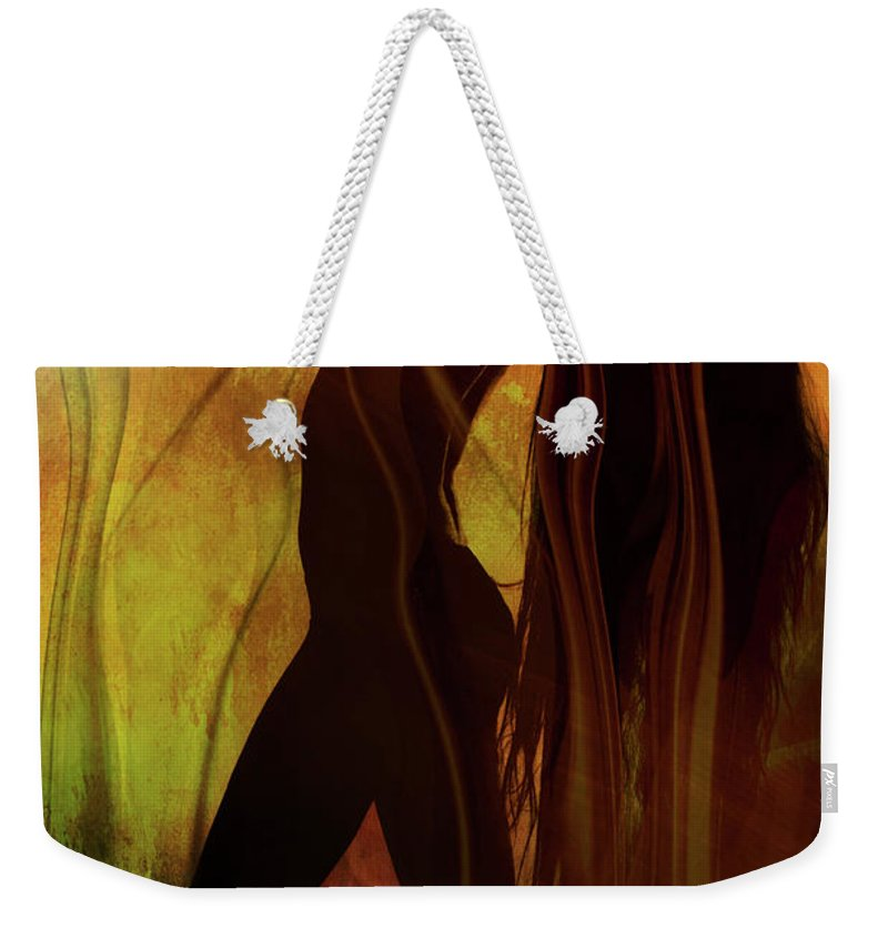 Festblues Weekender Tote Bag featuring the photograph The Witches Dance... by Nina Stavlund