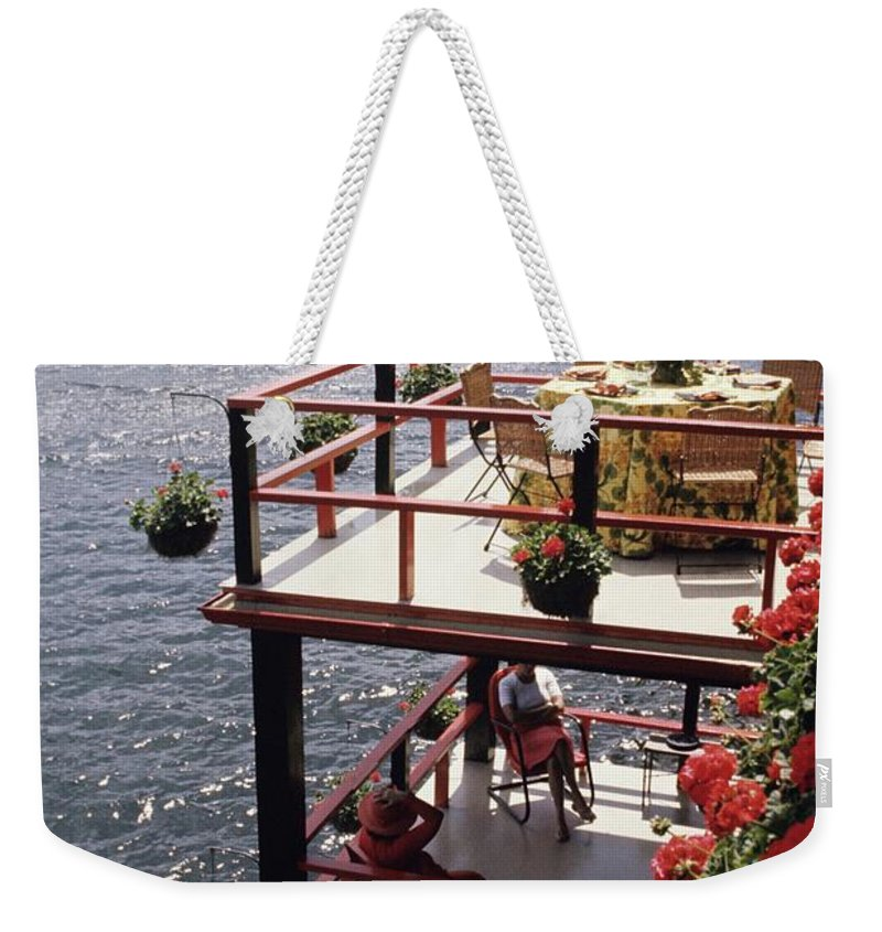 Home Weekender Tote Bag featuring the photograph The Wyker's Deck by Ernst Beadle
