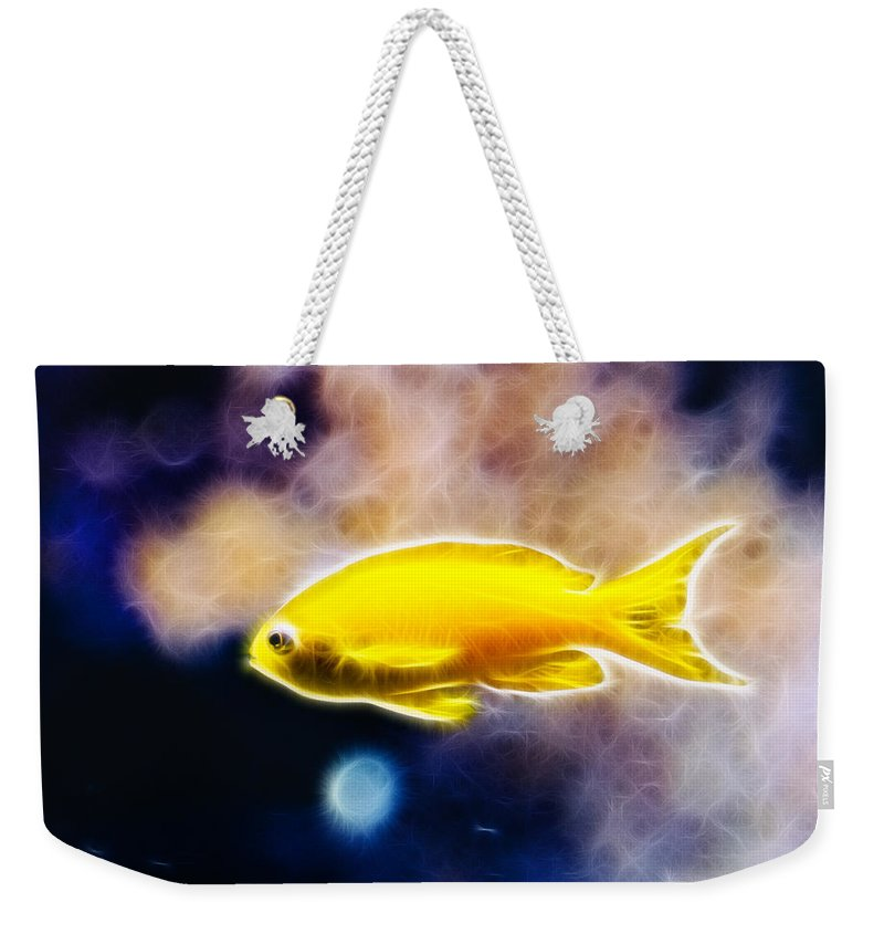 Fish Weekender Tote Bag featuring the photograph The Yellow Submarine by Pati Photography