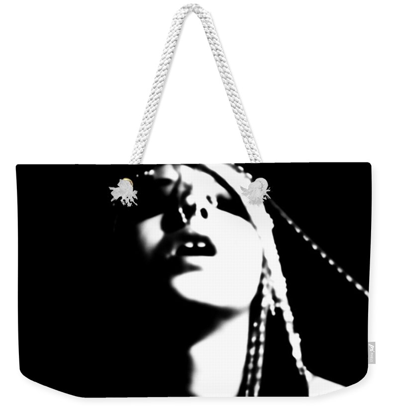 Black And White Weekender Tote Bag featuring the photograph The Zenith by Jessica Shelton