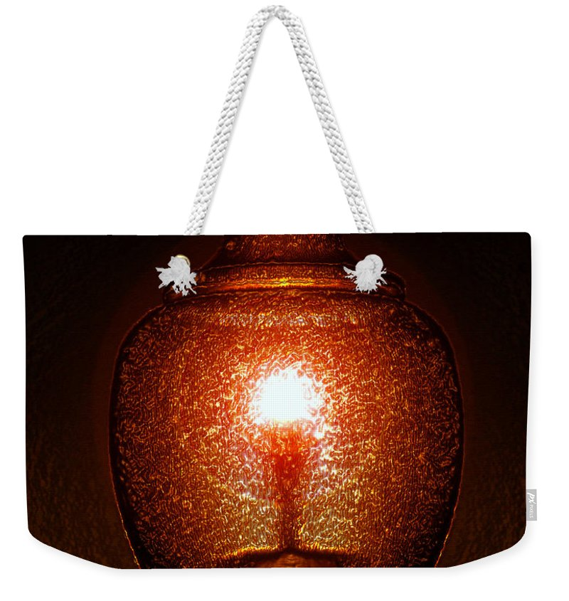 Light Weekender Tote Bag featuring the painting Amber Light by David Lee Thompson