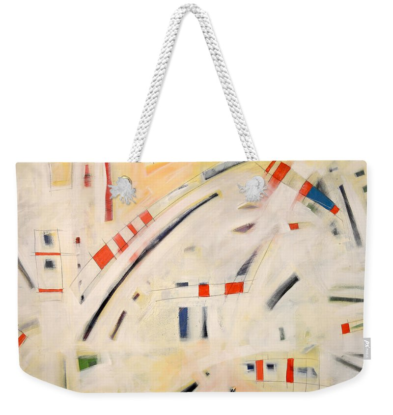 Theology Weekender Tote Bag featuring the painting Theology by Tim Nyberg