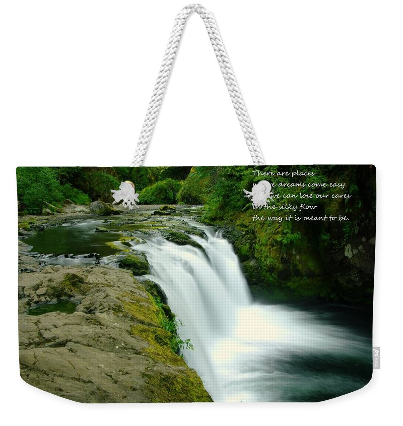 Water Weekender Tote Bag featuring the photograph There Are Places by Jeff Swan