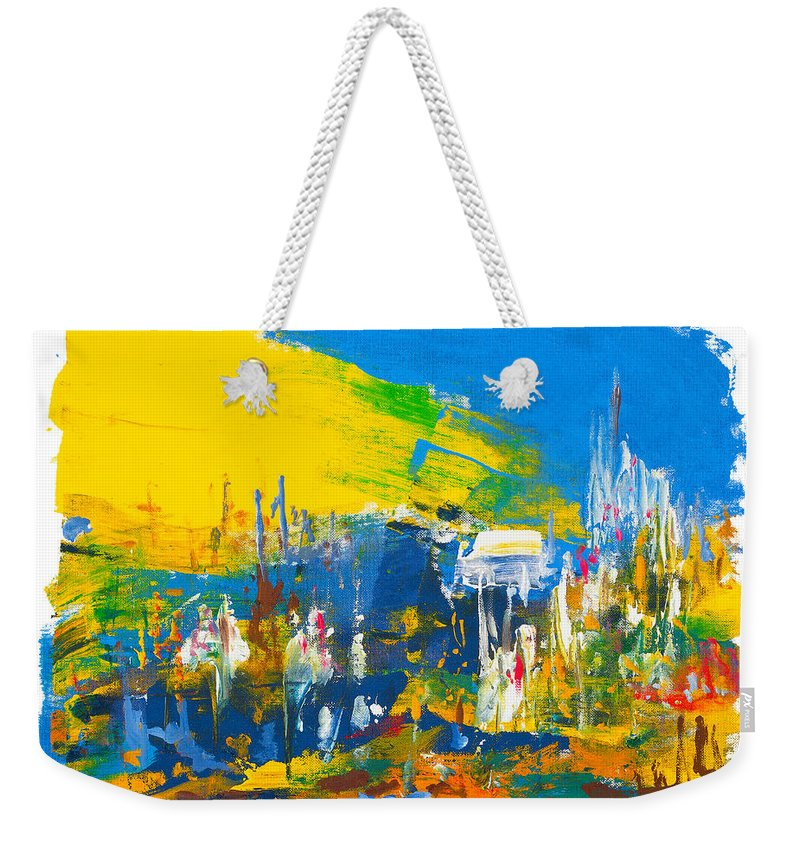 Religion Weekender Tote Bag featuring the painting They Came Bearing Gifts by Bjorn Sjogren