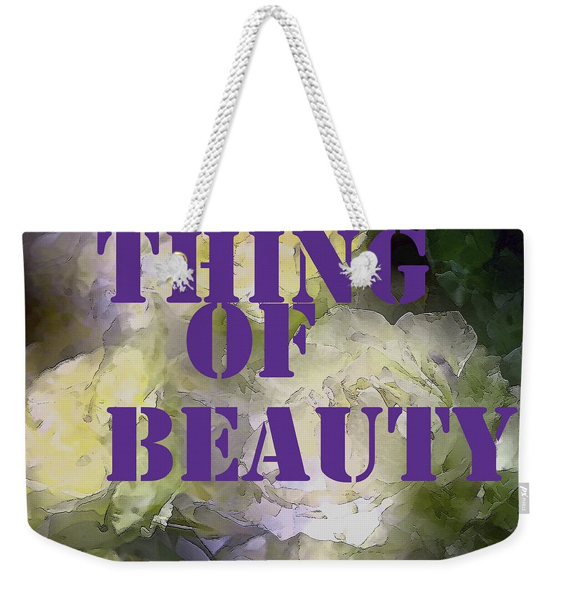 Thing Of Beauty Weekender Tote Bag featuring the photograph Thing Of Beauty by Pamela Cooper