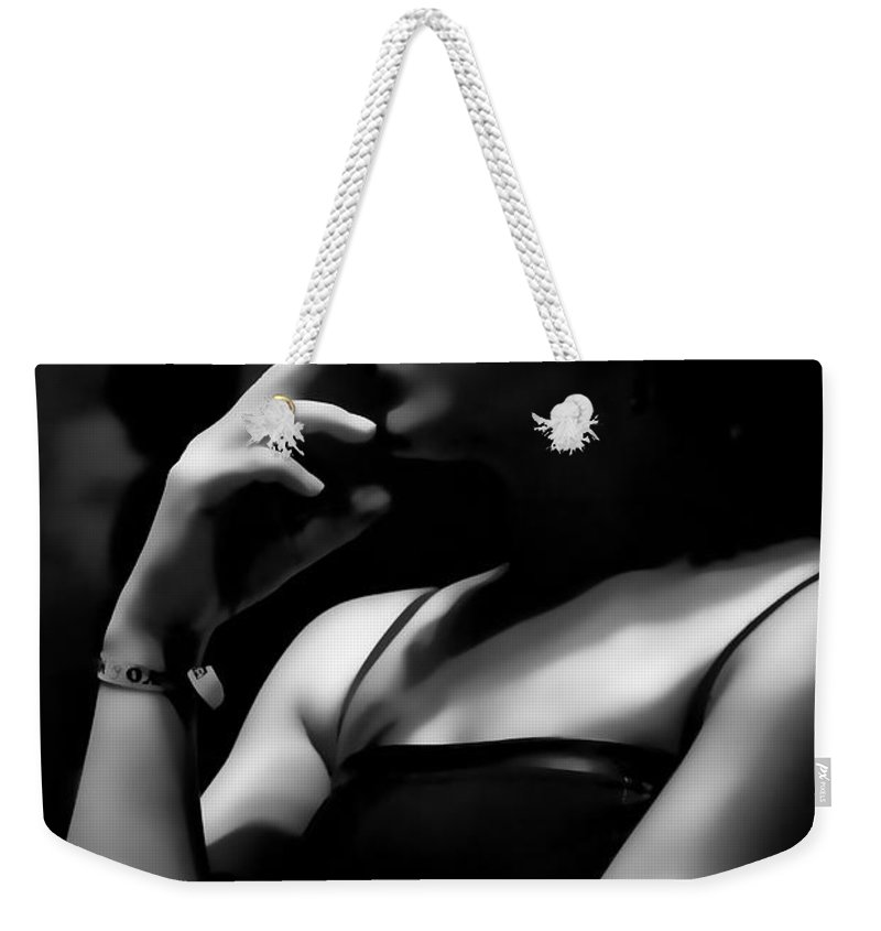 Thinking Weekender Tote Bag featuring the photograph Thinking by Agustin Uzarraga