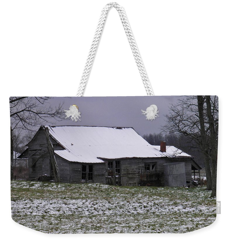 Cold Weekender Tote Bag featuring the photograph This Cold House by Nick Kirby