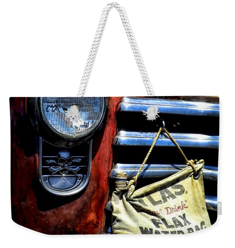 Old Chevy Truck Weekender Tote Bag featuring the photograph This Ol' Chevy by Kristie Bonnewell
