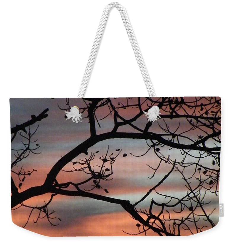 Sunrise Weekender Tote Bag featuring the photograph This Side Of The Night by Brian Boyle