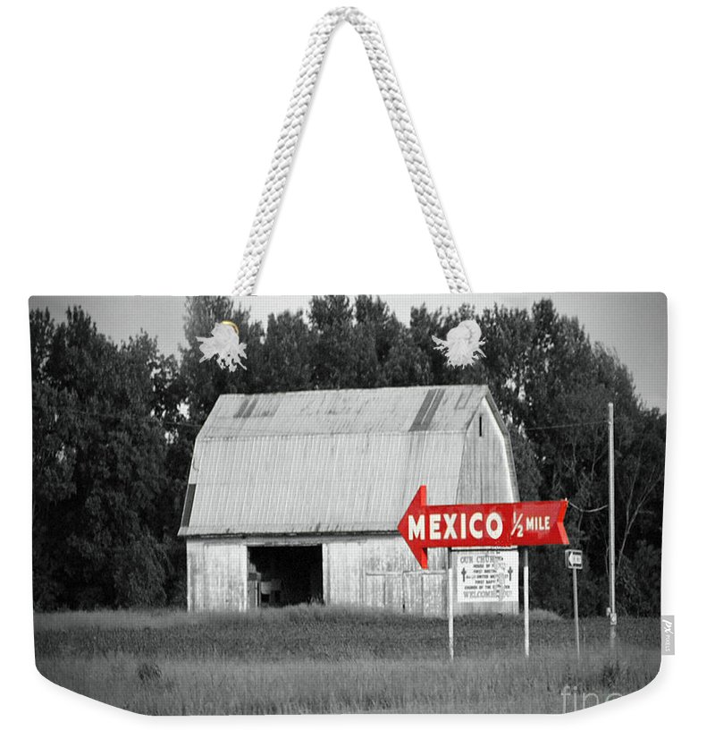 Mexico Weekender Tote Bag featuring the photograph This Way To Mexico by Jost Houk