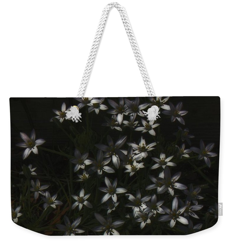 Flower Weekender Tote Bag featuring the digital art This Year's Bloom by John Feiser