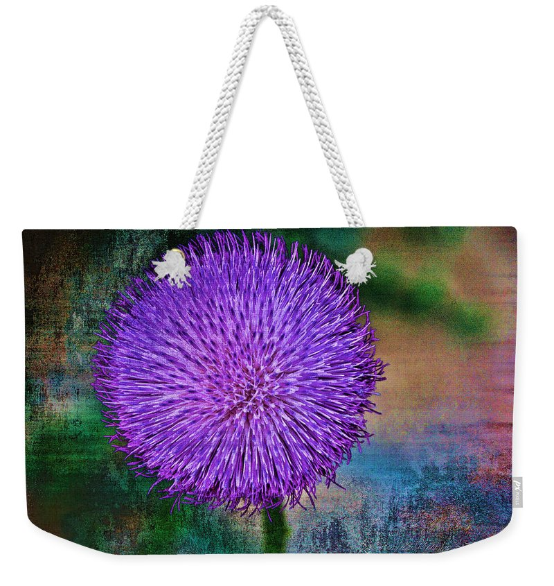 Thistle Weekender Tote Bag featuring the photograph Thistle by Charles Muhle