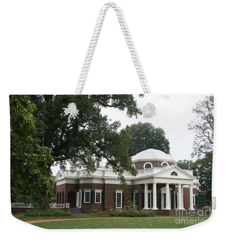 Monticello Weekender Tote Bag featuring the photograph Thomas Jeffersons Monticello by Christiane Schulze Art And Photography