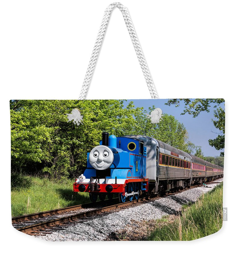 Thomas The Train Weekender Tote Bag featuring the photograph Thomas Visits The Cvnp by Dale Kincaid