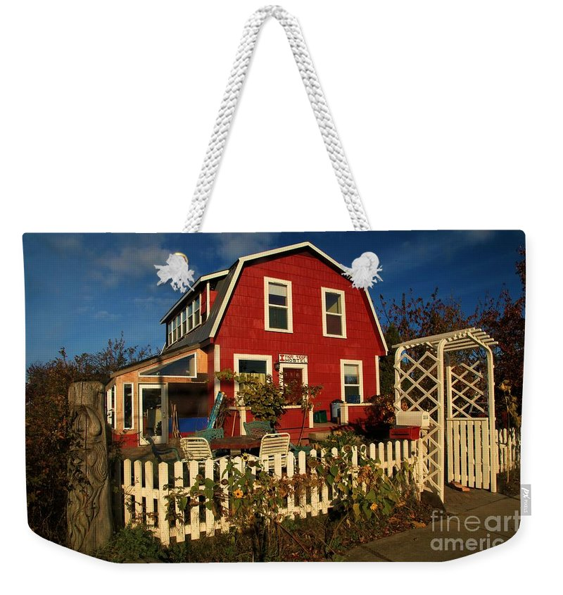 Thor Town Weekender Tote Bag featuring the photograph Thor Town Hostel by Adam Jewell