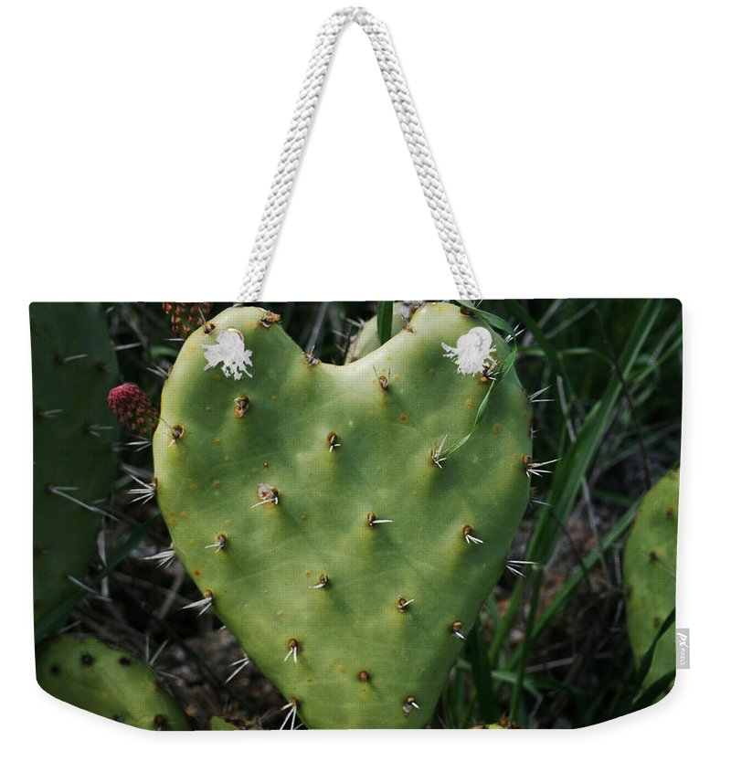Thorny Heart Weekender Tote Bag featuring the photograph Thorny Heart by Ellen Henneke