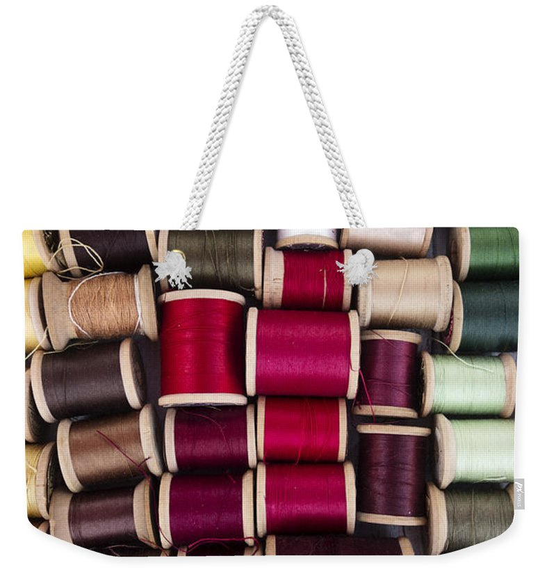 Thread Weekender Tote Bag featuring the photograph Threads I by Margie Hurwich