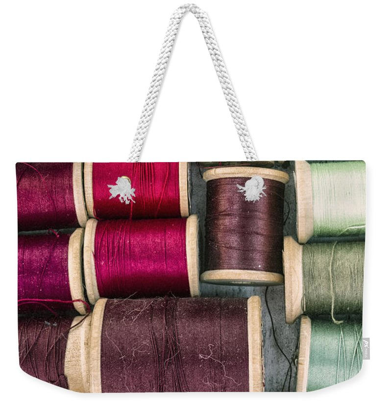 Thread Weekender Tote Bag featuring the photograph Threads II by Margie Hurwich