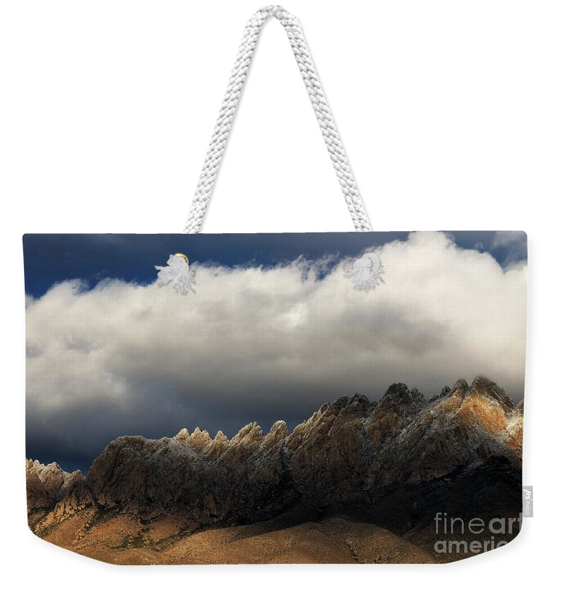Las Cruces Weekender Tote Bag featuring the photograph Threatening Skies by Vivian Christopher